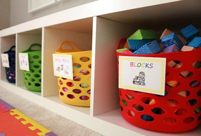 Picture Of cool and easy kids toys organizing ideas  22