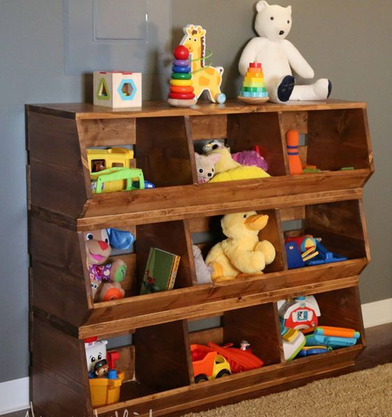Picture Of cool and easy kids toys organizing ideas  29