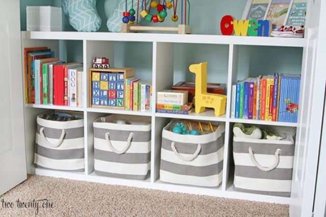 Picture Of cool and easy kids toys organizing ideas  34