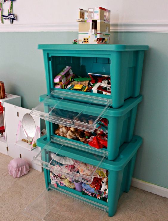Picture Of cool and easy kids toys organizing ideas  39