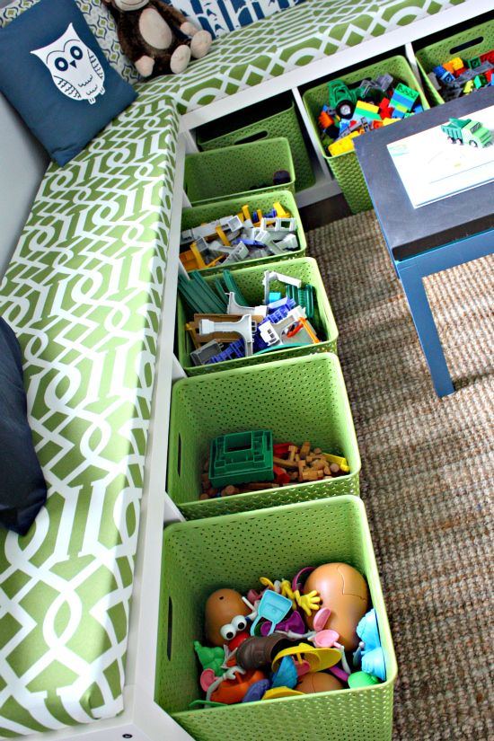 Picture Of cool and easy kids toys organizing ideas  6