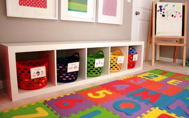 Picture Of cool and easy kids toys organizing ideas  9