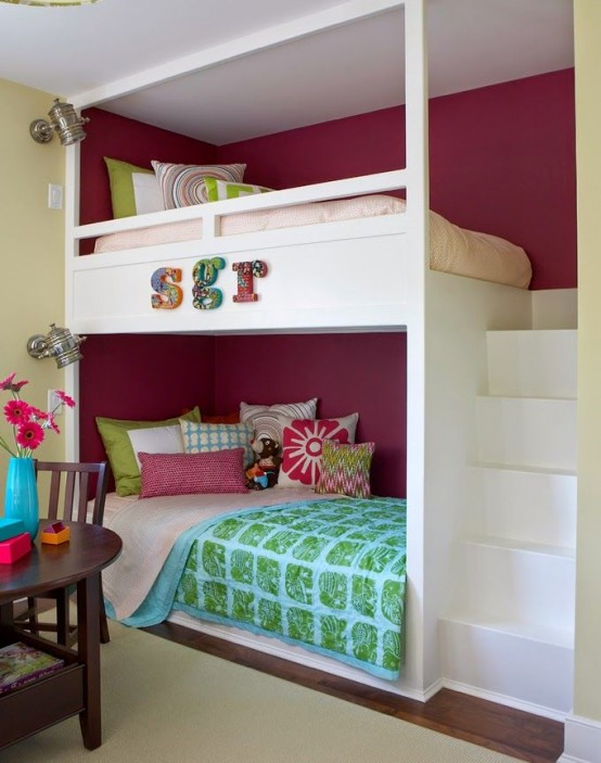 Amazing Cool And Functional Built In Bunk Beds For Kids