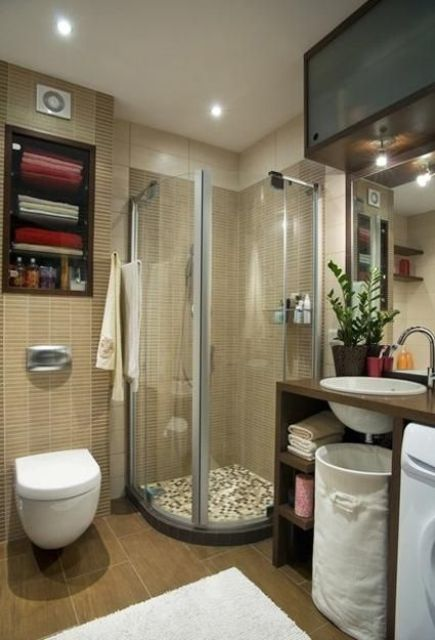 Nice Cool And Stylish Small Bathroom Design Ideas