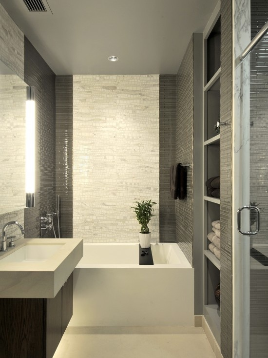 26 cool and stylish small bathroom design ideas digsdigs - Modern small bathroom designs ...