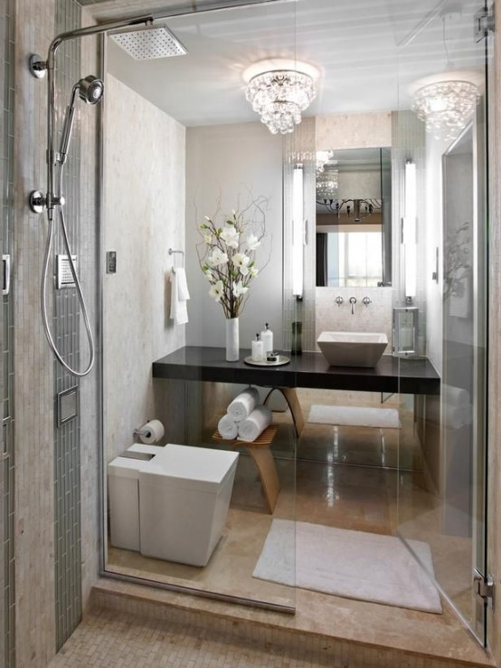 26 cool and stylish small bathroom design ideas digsdigs for Cool master bathrooms
