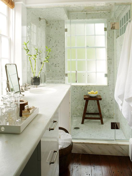 26 cool and stylish small bathroom design ideas digsdigs for Beautiful tiny bathrooms