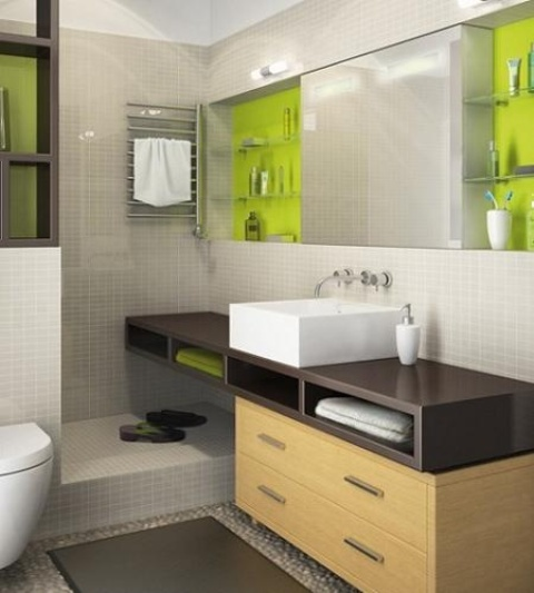 Great Cool And Stylish Small Bathroom Design Ideas