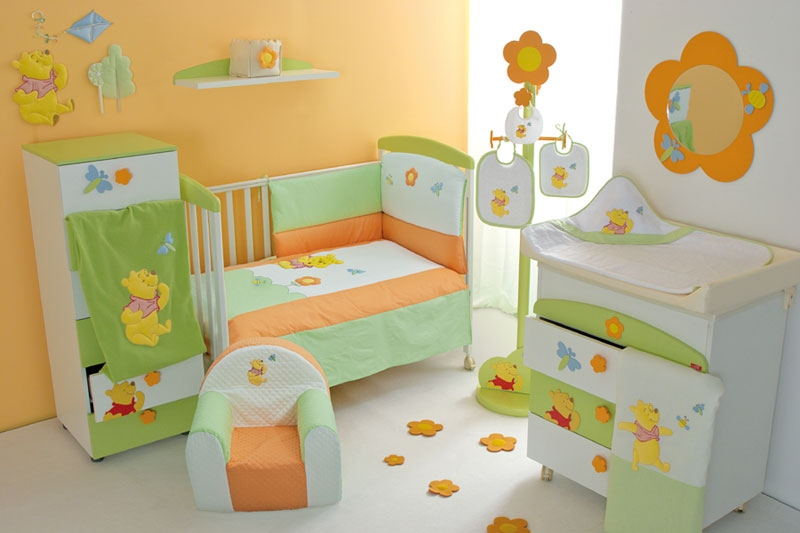 Cool baby nursery rooms inspired by winnie the pooh digsdigs for Baby room decoration pictures