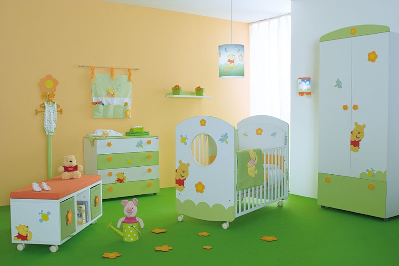 Cool baby nursery rooms inspired by winnie the pooh digsdigs - Baby rooms idees ...