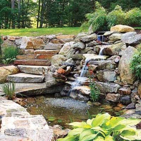 67 cool backyard pond design ideas digsdigs for Backyard pond designs