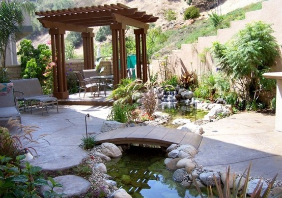 Even a small pond could make a simply backyard much more interesting.