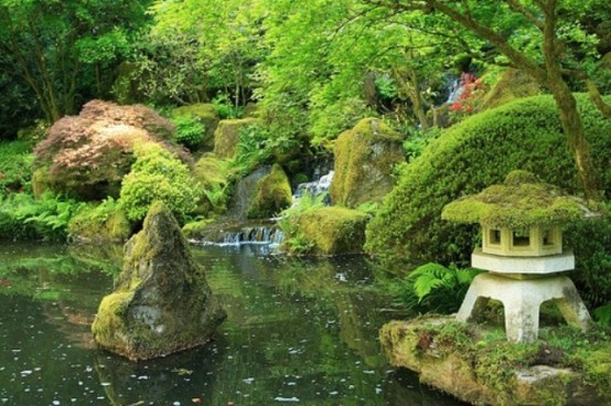 Japanese ponds could provide inspiration for any backyard pond construction.