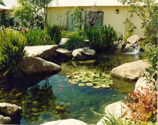 53 Cool Backyard Pond Design Ideas on lego modern house ideas