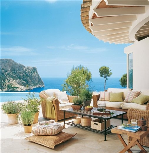 39 cool sea and beach inspired patios digsdigs for Decoracion patios exteriores
