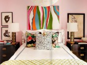 Cool Bedroom With Colorful Art