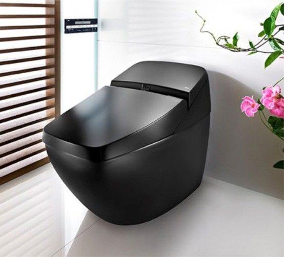 Cool Black Hi-Tech Toilet – Lumen Avant by Roca