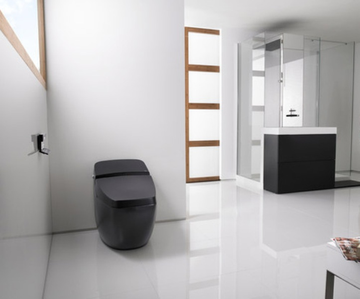 cool black hi tech toilet lumen avant by roca digsdigs. Black Bedroom Furniture Sets. Home Design Ideas