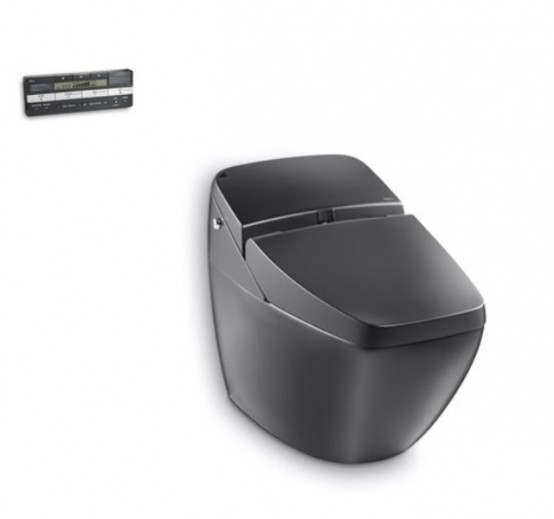 Cool Black Toilet With High Technologies