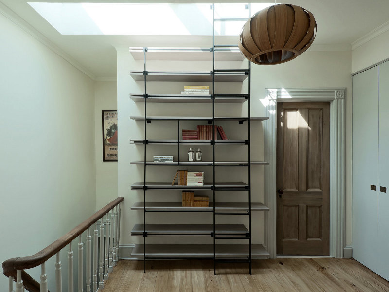 Cool Bookcase Ladder For Small Spaces DigsDigs