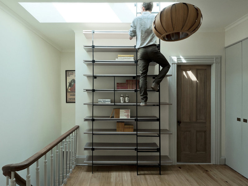 Cool Bookcase Ladder For Small Spaces