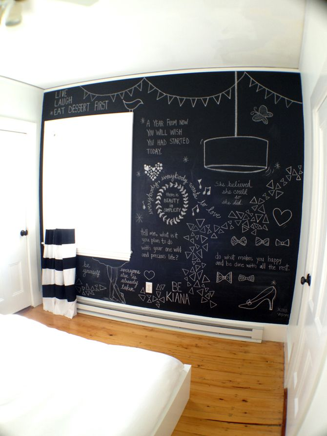 25 cool chalkboard bedroom d cor ideas to rock digsdigs for Blackboard design ideas