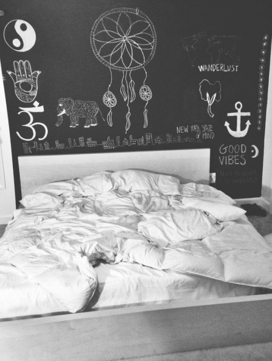 25 cool chalkboard bedroom d cor ideas to rock digsdigs for Room decor ideas quotes