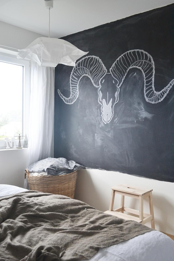 25 cool chalkboard bedroom d cor ideas to rock interior for Mural art designs for bedroom