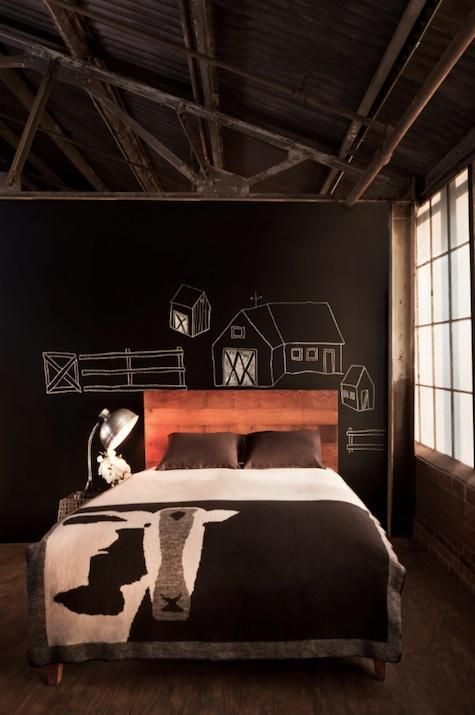 25 cool chalkboard bedroom d cor ideas to rock interior for Rock bedroom ideas