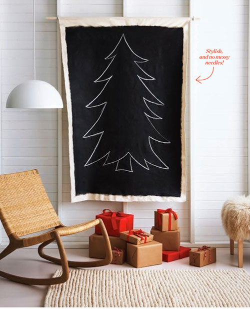 Chalk It Up Christmas Tree Alternative (via poppytalk)