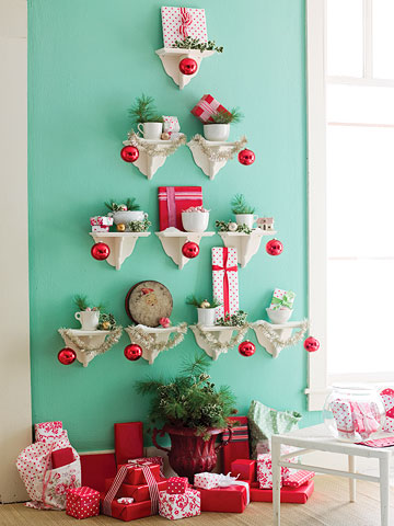 Wall Shelf Christmass Tree Alternative
