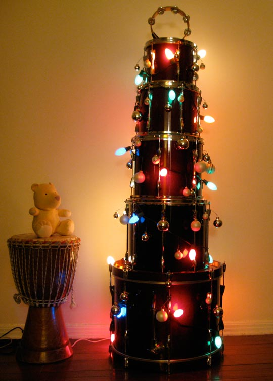 Musical Christmas Tree (via apartmenttherapy)