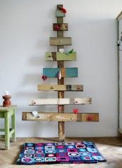 Rustic Christmas Tree Of Planks