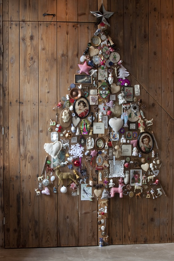 Alternative Christmas Tree Of Junk (via pinterest)