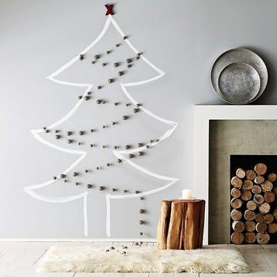 Wall Decal Christmas Tree Alternative (via vosgesparis)