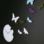 Cool Clock Butterfly Round