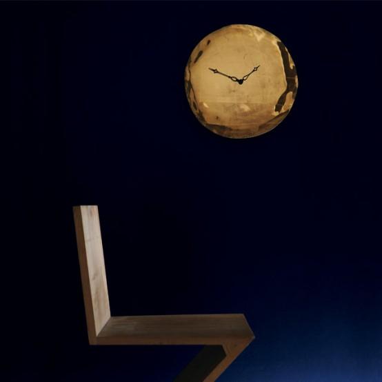 Oro E Platino Clock