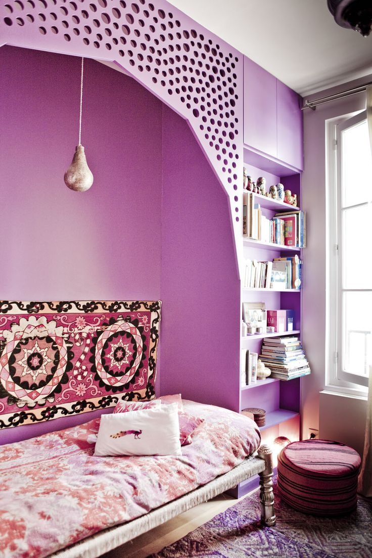 picture of cool colorful design ideas for a small bedroom
