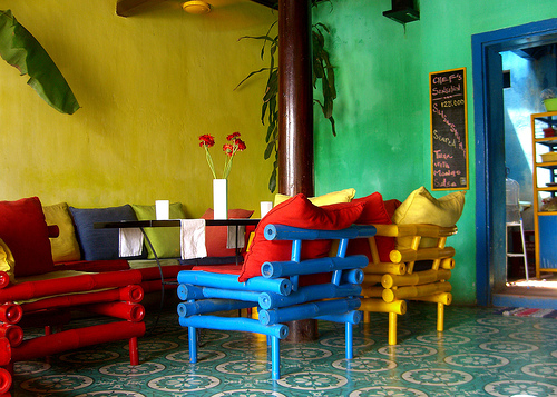 Cool Colorful Dining Area