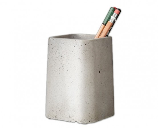 Cool Concrete Desk Accessories Collection