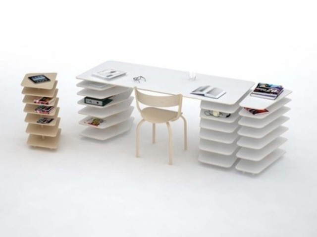 50 really cool desk design ideas for organizing clutter for Awesome desk ideas