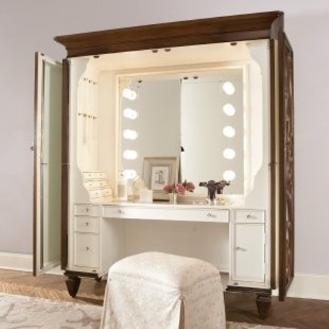 Jessica Furniture Makeup Vanity With Lights : 33 Cool Dressing Table Designs - DigsDigs