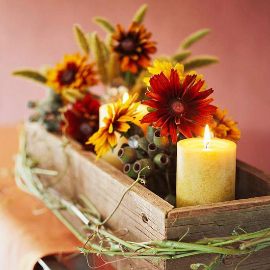 50 cool fall flowers d cor ideas for your home digsdigs for Pictures of fall table decorations
