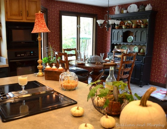 37 cool fall kitchen décor ideas - digsdigs