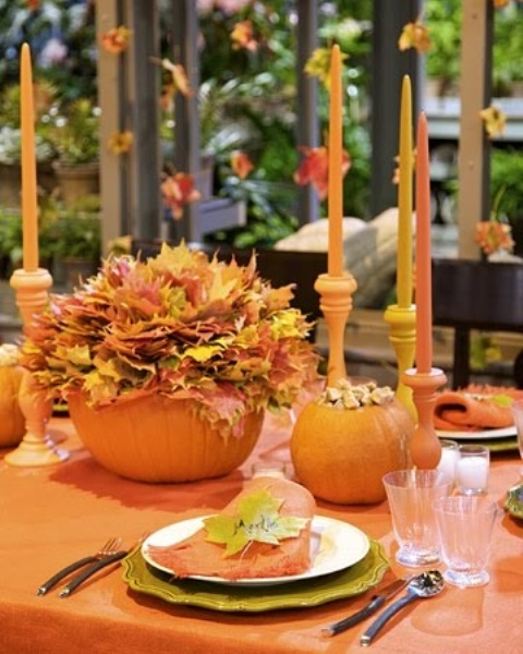 52 cool fall party d cor ideas digsdigs for Pictures of fall table decorations