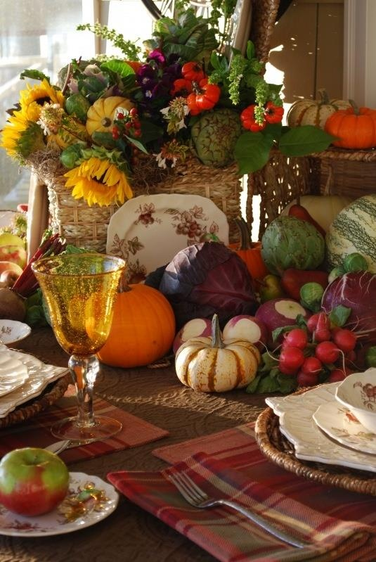 Fall Table Settings Enchanting With Fall Harvest Table Centerpieces Picture