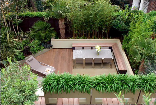 Cool garden and roof terrace design in contemporary style for Terrace layout