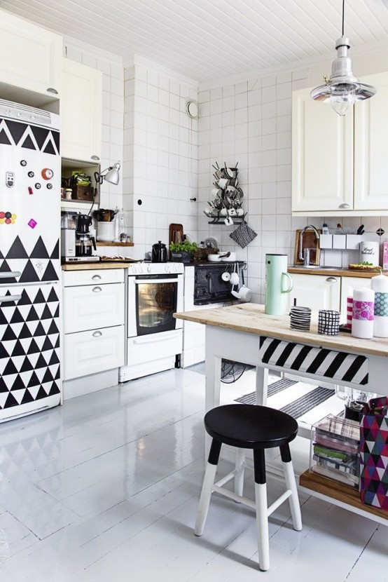 21 Cool Geometric Kitchen D Cor Ideas To Rock Digsdigs