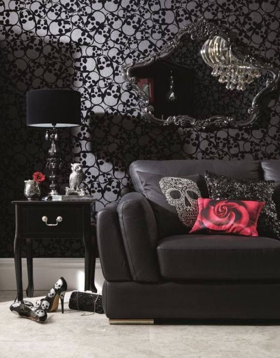18 cool gothic living room designs digsdigs Gorgeous home decor pinterest