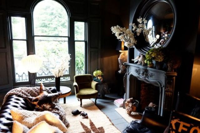18 cool gothic living room designs digsdigs for Minimalist victorian living room